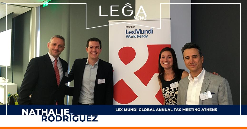 News 34: Lex Mundi Global Annual Tax Meeting Athens  - LEGA